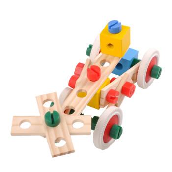 早教益智儿童木制玩具可拼拆装卸百变螺丝螺母组合积木玩具建构积木