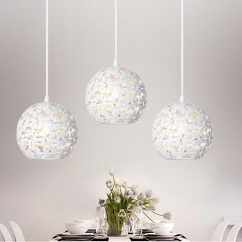 雷士(NVC)雷士照明led餐吊灯 现代简约时尚三头餐吊灯吧台灯具 白色E27*3无光源 EXDD1045