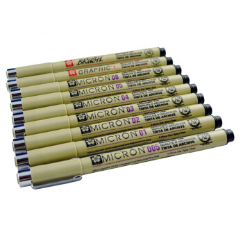 樱花(Sakura)针管笔 勾线笔 草图笔 漫画设计绘图笔 日本原装进口 08号 0.5mm 单支装