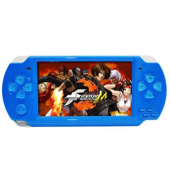 小霸王PSP掌上游戏机200 学生儿童4.3寸彩屏益智GBA掌机 经典怀旧街机王电玩MP5 蓝色 8G版本+16G内存卡