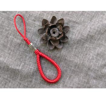 汽车钥匙扣纯手工金刚结创意钥匙链 红绳挂件男女 红色