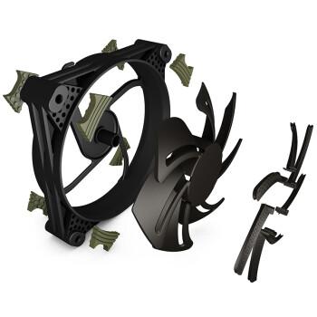 爱国者(aigo) 冰魄X1高效版 黑色 电脑机箱风扇(小3P+大4P双接口/7叶风扇/减震脚垫/赠4螺丝)