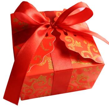 金喜派结婚喜糖盒蝶之恋创意个性喜糖盒子方形烫金糖果包装盒婚庆小