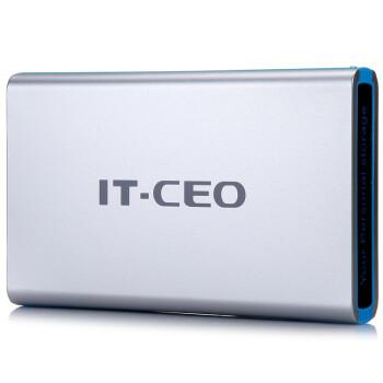 IT-CEO F8 USB2.0 3.5英寸移动硬盘盒/存储盒 支持SATA串口SSD固态/HDD台式电脑主机硬盘 铝合金外壳 银色