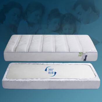 爱馨名纺(I-CHICHOUSE)防水床笠1.8m全棉保护套防滑1.5夹棉隔尿床罩 床垫保护套 百搭白色 床笠1.8米床