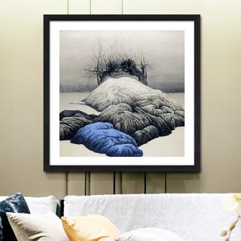北欧客厅黑白装饰画现代简约风景挂画沙发背景墙画餐厅走廊两联画 d