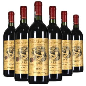 长城华夏九二珍藏级干红葡萄酒 整箱装 750ml*6瓶