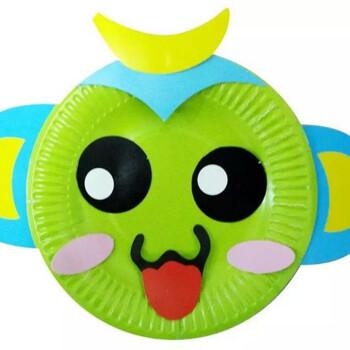 纸盘画 儿童diy立体手工制作纸盘贴画材料包创意粘贴盘玩具幼儿园教材