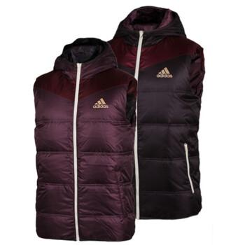 阿迪达斯 Adidas男装 两面穿羽绒马甲背心F50099 F50098 F50098 L/180/100