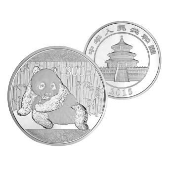 中国金币河南钱币 2015年熊猫1公斤银币