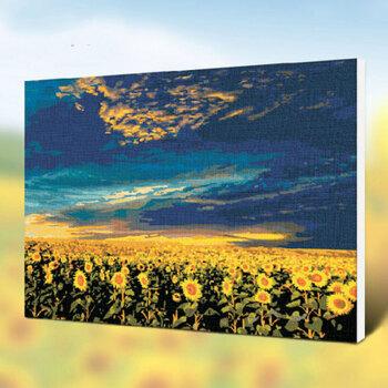 家居diy数字油画创意客厅沙背景墙风景花卉装饰画个性