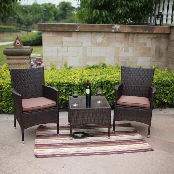 户外桌椅 户外家具庭院藤编组合藤椅五件套编藤休闲庭院花园套件 一几