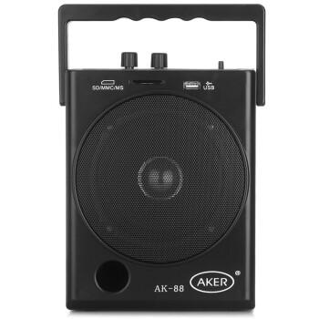 爱课(AKER)AK88W 无线话筒遥控扩音器广场舞促销教学扩音响(黑色)