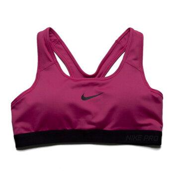 耐克新款女子ASPROCLASSICPADDEDBRA紧身服589423-010  红\粉红\玫瑰红 XL