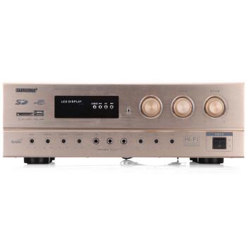 现代(HYUNDAI)AV-288 KTV音响/电教会议/舞台/调音台/数字效果器卡拉OK功放机 (金色)