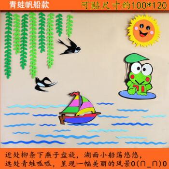 幼儿园装饰墙面区角布置组合墙贴卡通贴饰墙饰教室环境布置主题 青蛙