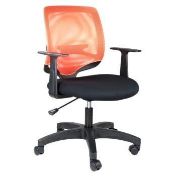 震旦(AURORA)CLF-03GL橘色 时尚办公椅 家用电脑椅 品牌转椅 人体工学座椅 高端品质滚轮网布椅子