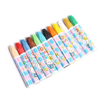 领先 中彩唛咪六角形油画棒12色/24色 真彩油画棒 两种规格可选 简装(21601) 24色(668-24)