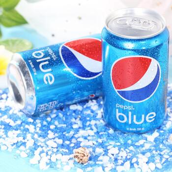 巴厘岛进口 百事可乐 blue 蓝色可乐饮料 夏季饮品梅子味碳酸饮料 网