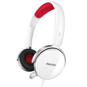 飞利浦(PHILIPS)SHM7110JD/93 SHM7110京东定制版 可更换耳罩 头戴式 耳麦 白色