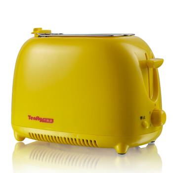 Tenfly添美家 THT-8866 家用自动多士炉烤面包吐司机早餐机 黄色