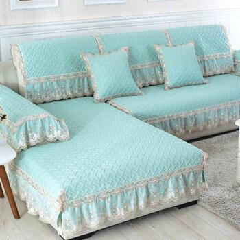 兴格夏季沙发垫真皮防滑布艺凉席欧式四季通用沙发套子巾简约现代