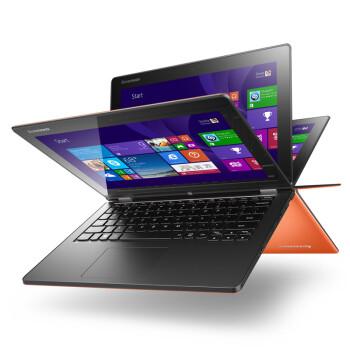 联想(Lenovo) Yoga2 11.6英寸触控超极本 (i5-4202Y 4G 500G 内置8G SSD 摄像头 蓝牙 Win8.1)日光橙