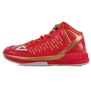 PEAK匹克篮球鞋帕克二代2代TP9马刺队战靴减震耐磨运动鞋男E4323A 大红/金色 41 (联系客服有更多优惠)