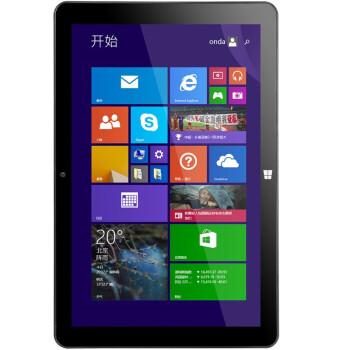 昂达(ONDA) V101w英特尔四核10.1英寸win8平板电脑 10.1英寸IPS屏1280x800 2G 32G 正版windows8.1)黑色