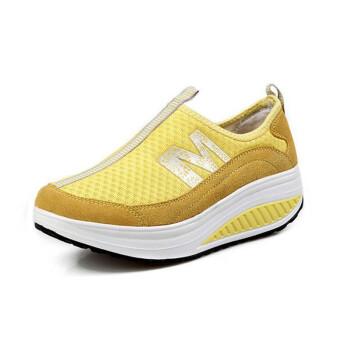 夏款套脚运动鞋防滑耐磨瘦身鞋减肥鞋摇摇鞋女透气网