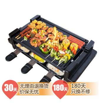 卡卡熊SK-032电烤炉 大号家用无烟烤肉机 韩式铁板烤盘 商用烧烤炉烤串机户外双层烤架 基础套餐一