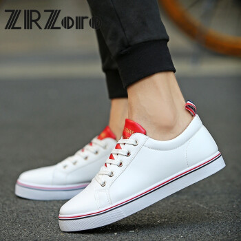 zoro青少年小码鞋子男36 37 38码板鞋白色时尚休闲鞋中学生潮夏季百搭图片