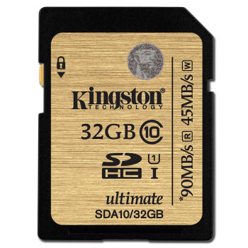 金士顿(Kingston)32GB 90MB/s SD Class10 UHS-I 高速存储卡 土豪金