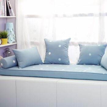 飘窗垫 窗台垫装饰儿童房公主清新粉色榻榻米沙发 地台床定制 墨绿色