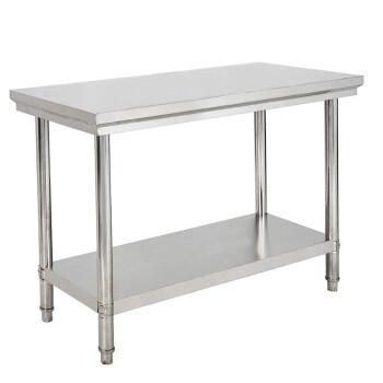 不锈钢工作台 双层 厨房桌子切菜桌子烘培桌子工作台打荷台操作台图片
