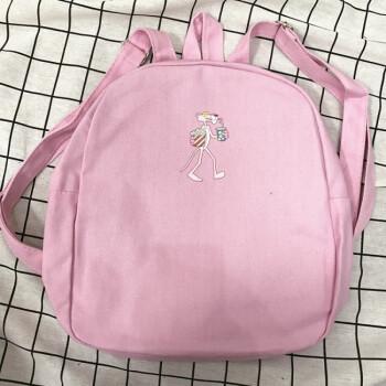 少女心迷你小背包 ulzzang原宿风软妹粉色书包学生双肩包wsn6064 粉色图片