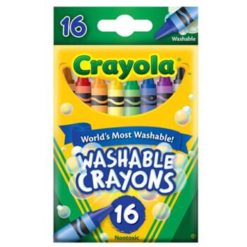 美国绘儿乐 Crayola 环保儿童文具 绘画工具 可水洗蜡笔 16色52-6916