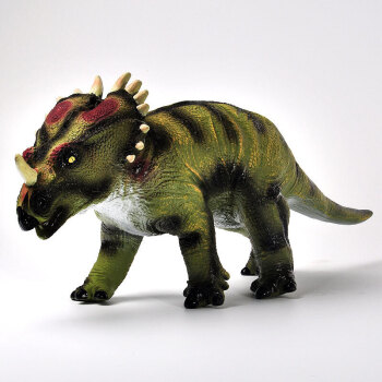 新凯纳软体恐龙动物模型玩具套装霸王龙三角龙剑龙静态玩偶摆件儿童男