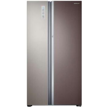 三星(SAMSUNG)RH60H90203L 605升 智能变频风冷 大容量门中门 原装进口 对开门冰箱(华美纹)