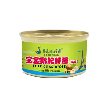 鹅肥肝酱_adelheid宝宝鹅肥肝酱乐宝(板栗味) 婴儿鹅肝酱宝宝辅食肝酱80g 婴幼