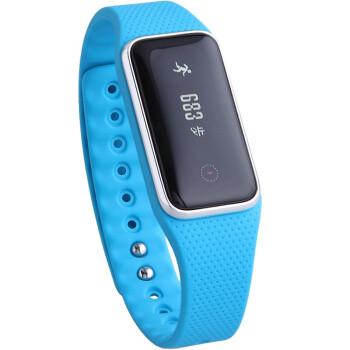 玩咖(wan-ka)7077 智能运动手环 智能记步健康管理 触摸屏 腕带加长版 蓝色