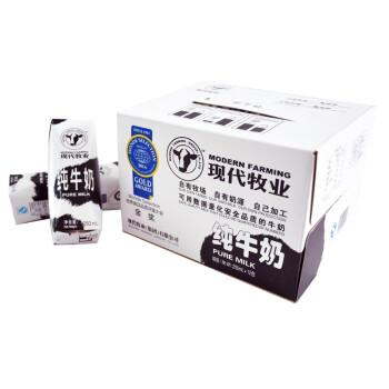 现代牧业 纯牛奶250ml*12环保装