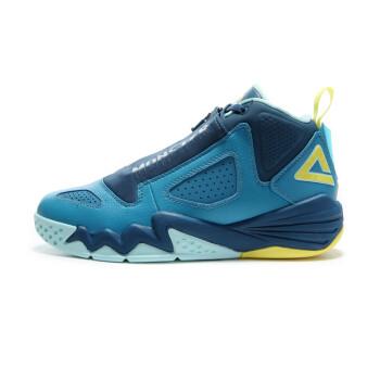 匹克篮球鞋新款男鞋猛兽高帮耐磨防滑减震运动鞋E44311A 加勒比蓝/浅月 41