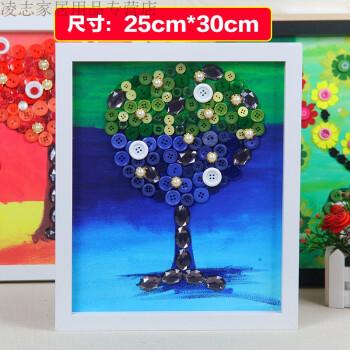 手工制作diy材料包创意美劳纽扣花立体粘贴画装饰礼物艺术树叶画儿童