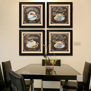 [大户人家]大框画专家 现代简约客厅装饰画 现代美式餐厅墙壁画 四张图片