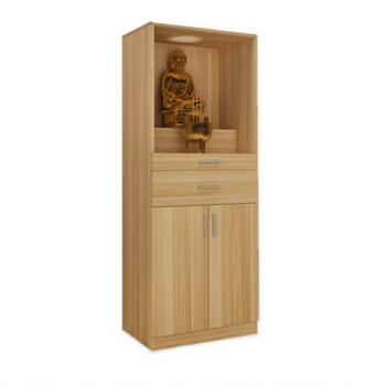 爱韵馨华供奉关公神像柜佛龛立柜带门实木供桌供台佛柜财神爷观音神龛