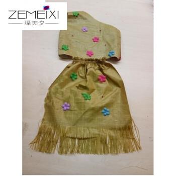 zemeixi儿童编织袋塑料袋环保服幼儿园子时装走秀演出