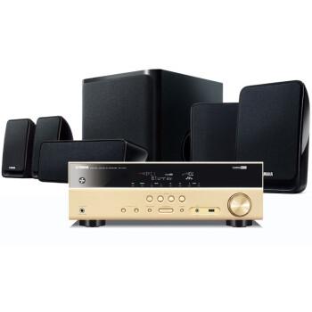 雅马哈(Yamaha)NS-P20音箱+RX-V377功放机 5.1声道家庭影院音响套装 金色功放