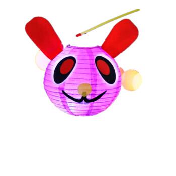绘画/diy 手工彩泥 悠悠兔 幼儿园过年创意玩具自制小花灯手工灯笼