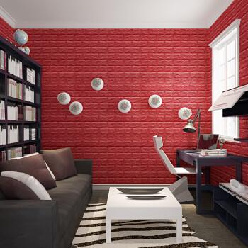 3d立体墙贴纸自粘创意电视背景墙砖纹壁纸客厅卧室装饰防水墙纸贴纸图片
